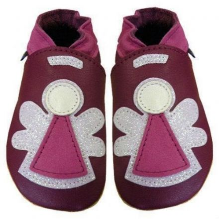 Plum Angel Shoes, 6 to 12 Months